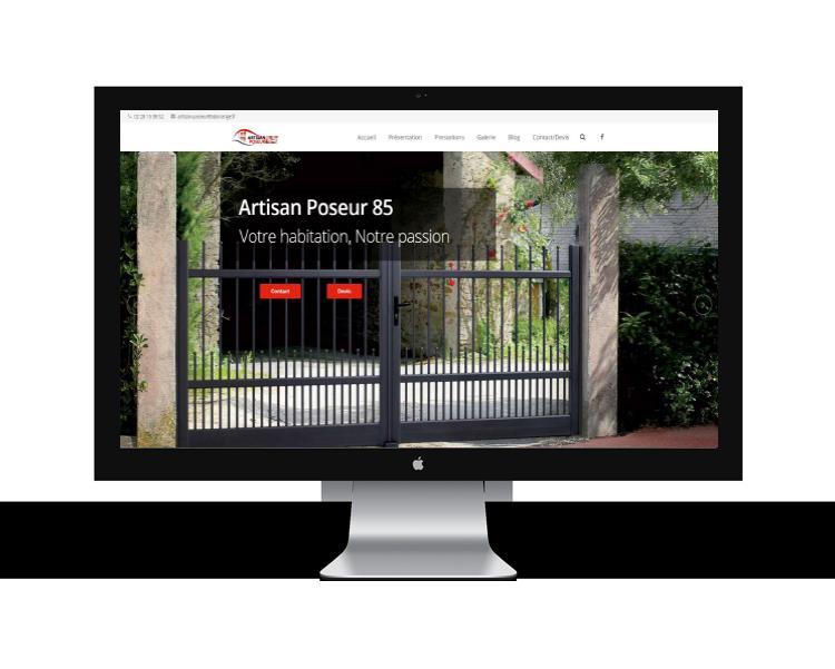 Création de site internet en Vendée mockup-artisan-poseur