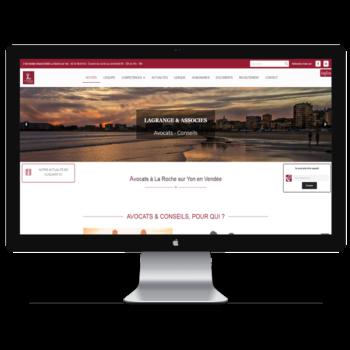 Création de site internet en Vendée pour le cabinet avocats Lagrange
