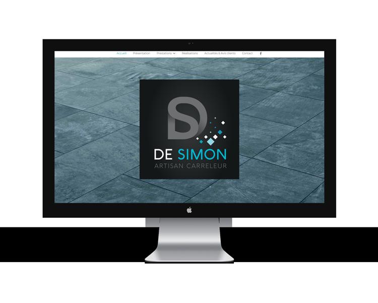 Création de site internet en Vendée pour De Simon carreleur