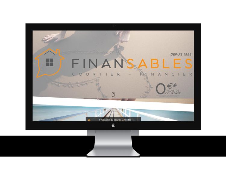 Création de site internet en Vendée pour Finansables