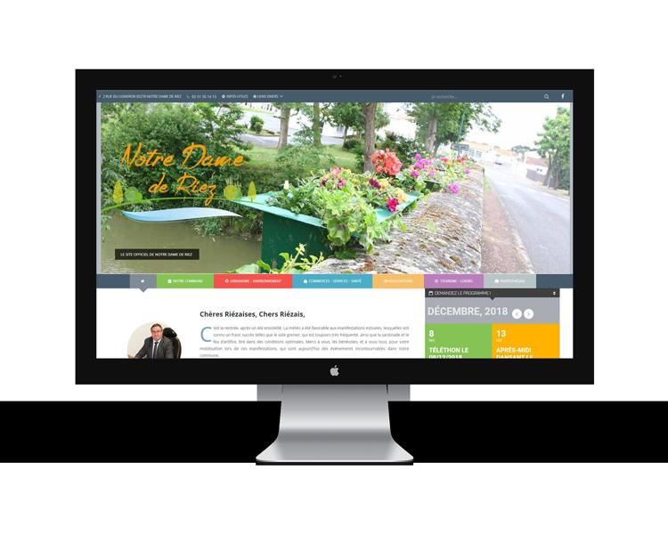 Création de site internet en Vendée pour mairie Notre Dame de Riez