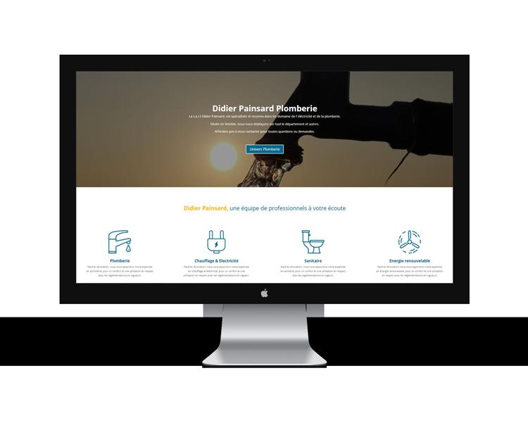 Création de site internet en Vendée pour Didier Painsard
