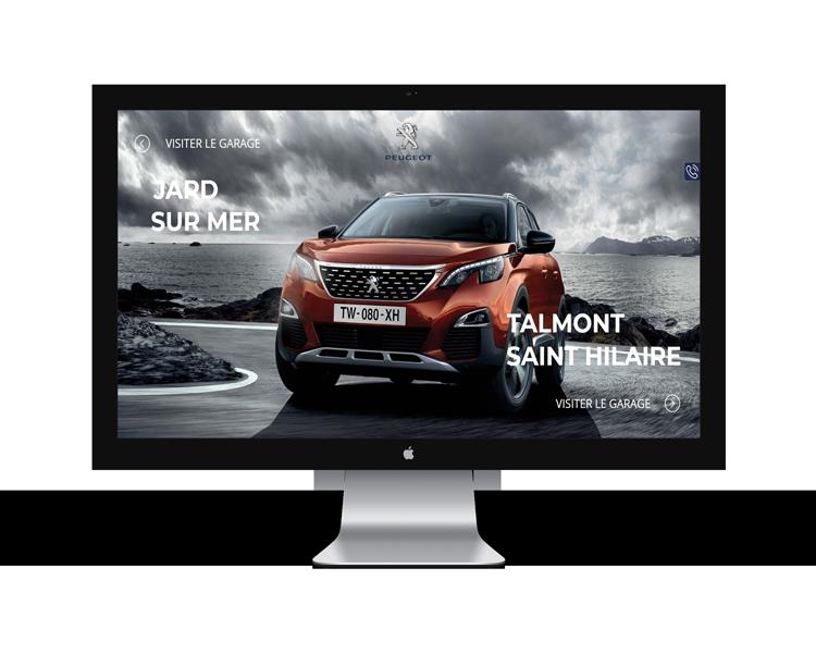 Création de site internet en Vendée pour Peugeot